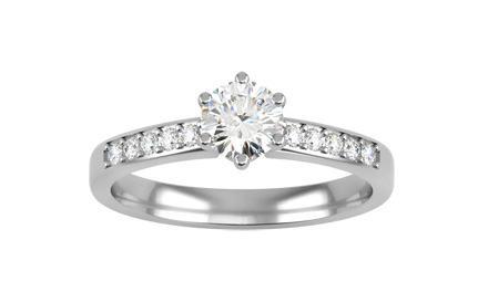 Inel de logodna cu diamante naturale